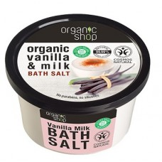 Organic Shop Bath Salt Vanilla Milk 250ml