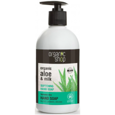Organic Shop Softening Aloe Hand Soap 500ml