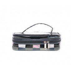 Casuelle Low Beauty Case Black Laquer with over print