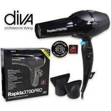 Diva Professional Hair Dryer rapida 3700 pro black 2200 watt