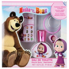Disney Masha and the Bear EDT 30ML + Bracelet + Stick On Earrings